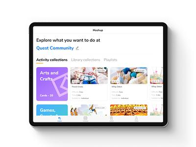 Activity Based Education : iPad App - WIP inspiration minimal ios ux education app design ipad pro illustration karti392 card layout interface ui