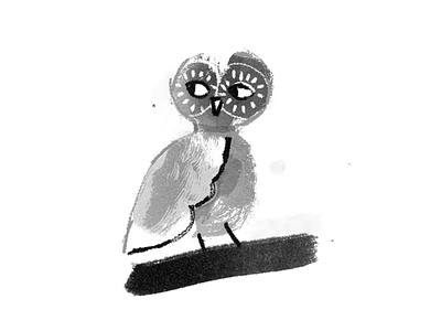 Owl coruja bw illustration brush brushes owl