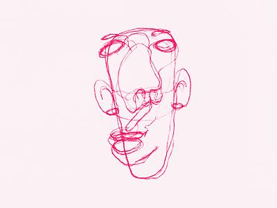 Head draw face pencil illustration head