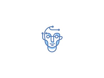 🤖 Circuit robot tech logo man circuit
