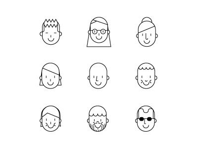 people people minimal vector coworkers black and white illustration icon line bw