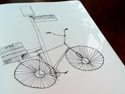 bicycle bicycle illustration moleskine sketch ink