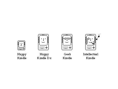 Happy Kindle kindle icon retro happy happy mac black and white pixel bw geek intellectual