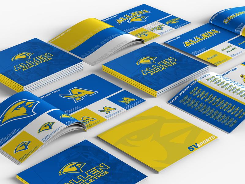 William Allen High School Athletic Rebrand brand guide brand identity rebrand canary logo a logo a canary bird logo bird sports logo athletics high school allen