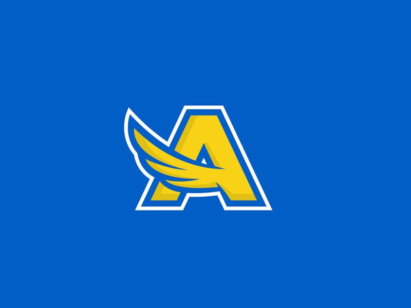 William Allen High School A Logo canary bird logo identity rebrand high school allen a logo a