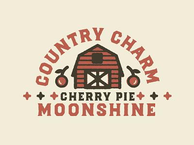CountryCharm edmonton alberta cherries cherry barn fresh farm identity branding brand logo