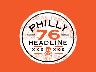 Philly 76 philadelphia philly orange black distressed typedesign typeface type font design font