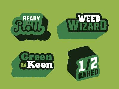 Weed Words greens green alberta edmonton vector design icon illustration branding logo marijuana cannabis weed