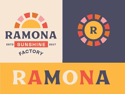 Ramona Sunshine kids cute sun sunshine daughter mark illustration vector edmonton alberta design identity branding brand logo