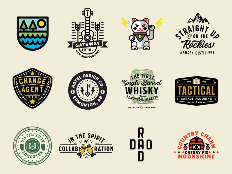 Logo Lounge 12 Winners badge illustration edmonton alberta icon design identity branding brand logo
