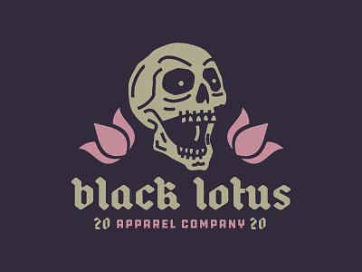 Black Lotus edmonton alberta evil skull lotus black design identity branding brand logo