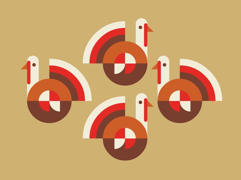 Free RangeTurkeys vector illustration icon thanksgiving turkey