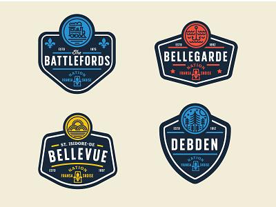 Societe Historique de la Saskatchewan Badges 1/4 badge saskatchewan vector icon design identity branding brand logo