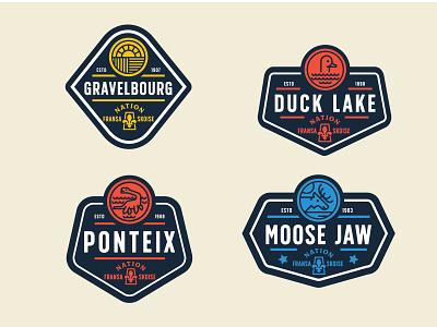 Societe Historique de la Saskatchewan Badges 2/4 saskatchewan badge typography vector icon design identity branding brand logo