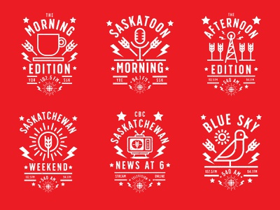 CBC Radio Badge Series badge saskatchewan cbc vector red icon design identity branding brand logo