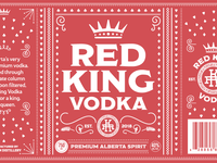 Red King Vodka Label