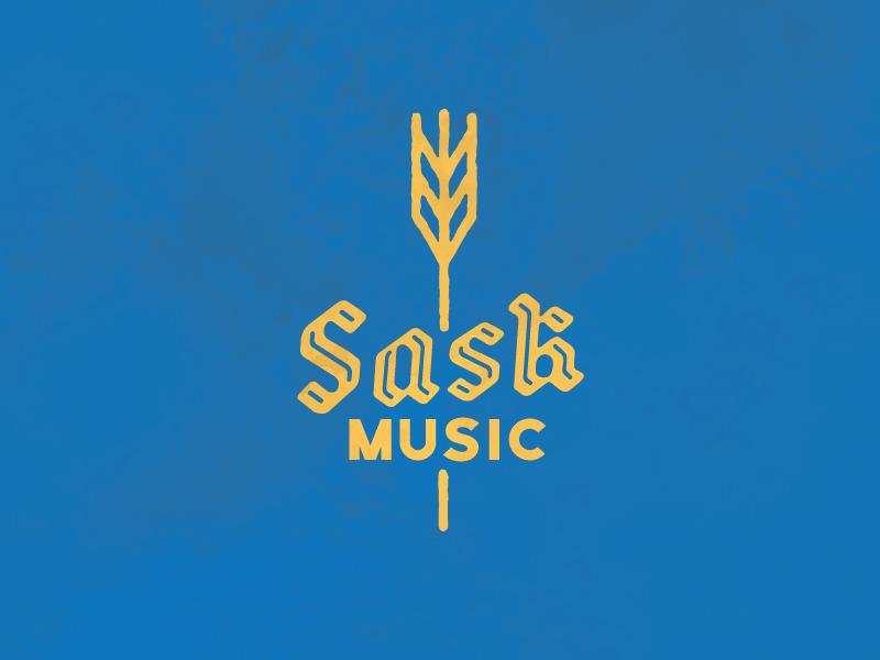SaskMusic blue yellow prairie music saskatchewan wheat graphic shirt