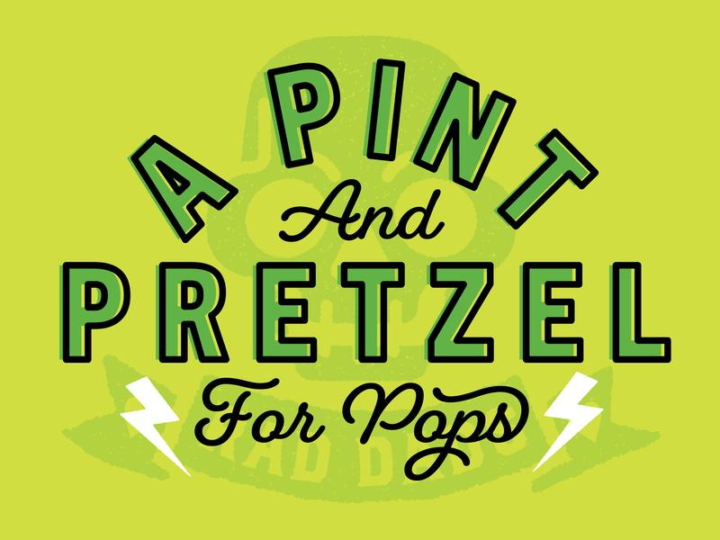 Pint & Pretzel type event pretzel beer branding poster art poster