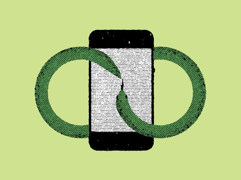 Infinite Scroll tech technology iphone ouroboros snake