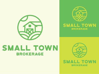 Small Town Brokerage design identity branding brand logo