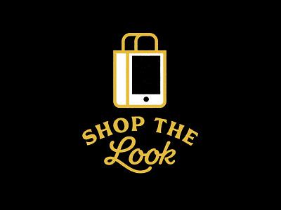 Buzzwords: Shop the Look bag phone shop black vector illustration design identity branding brand logo