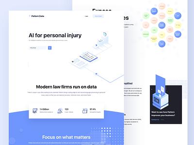 Website for Data Company website webdesign data branding app design sketch ux ui