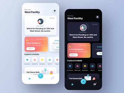 Safety App community safety security mobile branding app ui design ux sketch