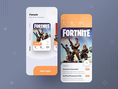 Video Game Message Board App product messaging message board forum video games interaction mobile branding design app sketch ux ui
