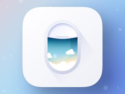 Flight Booking App Icon branding sketch ui  ux tickets travel app icon flight booking flight