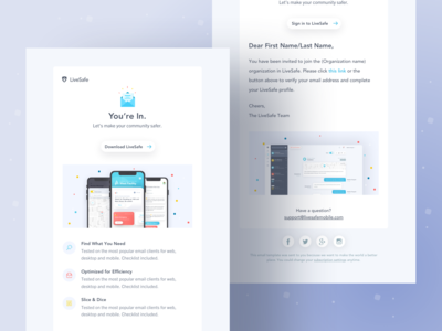 Email Templates email marketing email design email template email safety security community mobile branding app design ux ui sketch