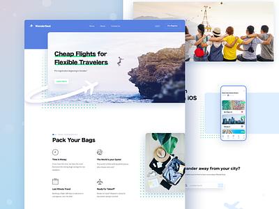Flight Booking Website flight booking tickets flights travel product design web design design sketch ux ui