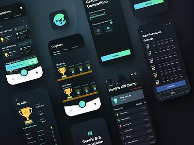 Fortnite / Battle Royale Companion App companion app battle royale video games fortnite mobile branding app design sketch ux ui