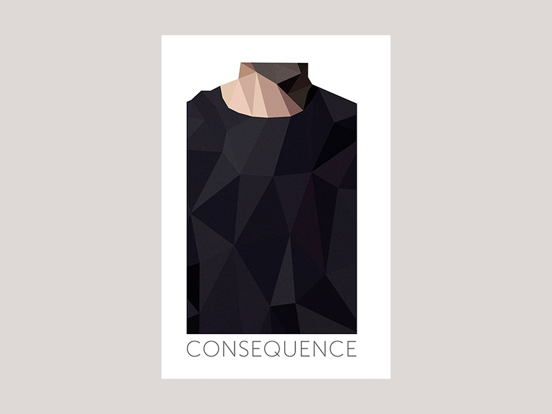 Consequence geometric illustration bookcover design cover book