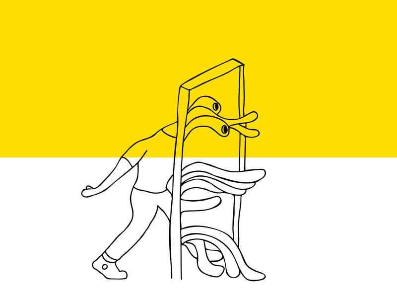 Spaghettification vector illustration