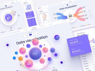 Orion UI kit - Charts templates & infographics in Figma orion ui kit web design web analytics dashboard analytics chart dashboard product bigdata analytic infographic kit ui interface white data visualization data visualisation chart