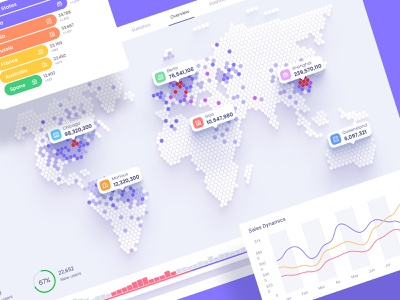 Orion UI kit - Data map visualisation dark ui orion web data desktop analytics chart infographic product data vusialisation chart dataviz template dashboard
