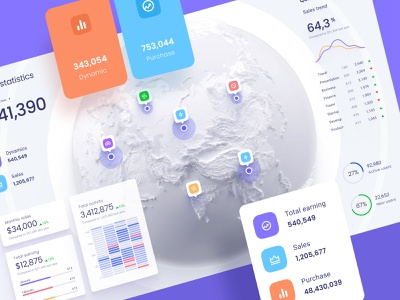 Map dataviz template data dark ui dataviz data vusialisation desktop analytics chart infographic product saas template dashboard