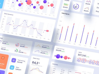 Widgets library for dashboards and presentations game machine learning bigdata dataviz presentation dashboard infographic product data visualization figma template graphs charts widgets design system angular react component