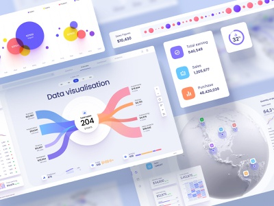Orion UI kit - Charts templates & infographics in Figma crypto light game statistic analytics chart desktop app saas presentation dashbaords infographic dataviz ux ui components charts graphs widgets template