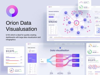 Orion UI kit - Charts templates & infographics in Figma bubble chart machine learning data viz cloud app mobile desktop bar chart line chart sankey analytics chart infographic dashboard template widgets chart statistic dashboard saas dataviz template