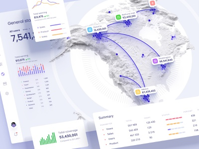 Data visualization on the map promo browser mobile app technology cloud saas marketing world planet maps locations statistics analytics bigdata desktop statistic location map orion
