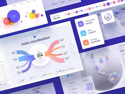 Orion UI kit - Charts templates & infographics in Figma design library widgets develop statistic analytic desktop service app presentation dashboard template neurosciense dataviz chart sales ai finance components widget