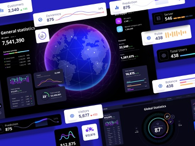 Widgets library for dashboards and presentations nocode mobile prediction application design library components widgets develop statistic analytic desktop service app presentation dashboard template neurosciense dataviz chart