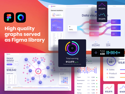 Charts templates & infographics in Figma presentation design data visualisation system figma library graphs analytics chart template infographic product chart dashboard application presentation design library components widgets develop statistic analytic desktop