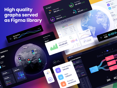 Orion UI kit - Data map visualisation widgets develop statistic analytic product chart desktop dashboard template maps hexagon location tracker location app zoom pin mapping dataviz sci-fi planet map