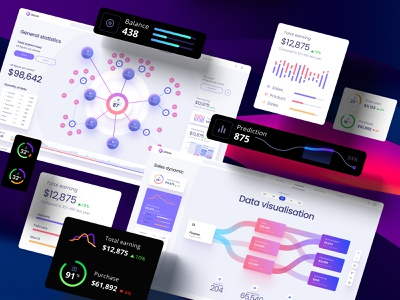 Widgets library for dashboards and presentations no code mobile prediction application design library components widgets develop statistic analytic desktop service app presentation dashboard template neuroscience chart
