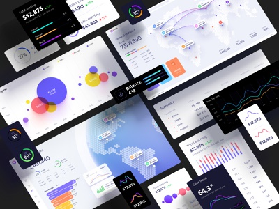 Huge UI kit for dashboards and presentations no code mobile prediction application design library components widgets develop statistic analytic desktop service app presentation dashboard template neuroscience chart
