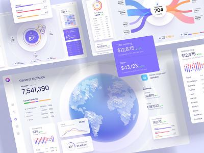 Orion UI kit - Charts templates & infographics in Figma branding motion graphics graphic design 3d animation ui logo illustration design infographic statistic chart desktop dataviz dashboard template