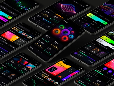 Eclipse - Figma dashboard UI kit for data design web apps crypto startup product service saas chart infographic statistic figma components autolayout android ios dashboard dataviz desktop template templates isometric mobile