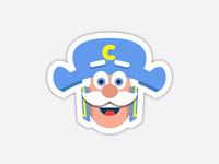 Cap'n Crunch Sticker